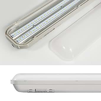 Aethlux ® 24W iP65 120 cm plafonnier encastrable lED luminaire pour locaux humides panneau lumineux lED 2000 lm k-4500 blanc 4000 k lampe