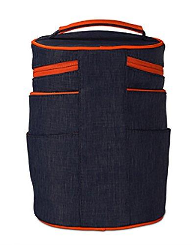Blu Digitahi plastica lavaggio della di sacchetto Sacchetto Scuro portatile sacchetto cosmetico CLOTHES sacchetto trasferimento del portatil di del impermeabile di di del barra immagazzinaggio di del sacchetto gwnq4TR6