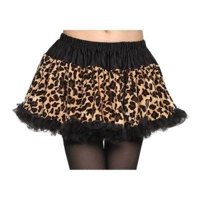 Leopard Print Tutu Skirt (one size)  Features an elasticated waist for an easy fit. Animal print became very popular in the 1980s which makes this skirt perfect for 80s dress-up.