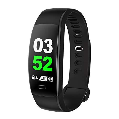 BZLine Smartwatch, Bluetooth Smart Watch Intelligente Braccialetto Sonno Cardiofrequenzimetro Pedometro Anti-Perso Wristband Chiamata Ricordare Trova Telefono Fitness Tracker Contapassi Impermeabile Per IOS Telefoni Android (Schwarz)