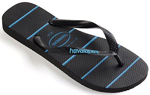 Havaianas Gemusterte Zehentrenner Herren Top Stripes Logo Blau