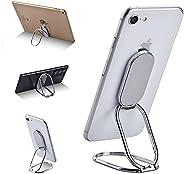 Phone Ring Holder Finger Kickstand, Foldable 360°Rotation Cell Phone Stand for Office Desktop & Magnetic C