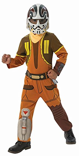 Star Wars Ezra Kostüm Rebels - Rubie's Star Wars Rebels Kinder Kostüm Ezra Overall Maske Gr.L(7-8J.)