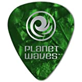 Planet Waves Green Pearl Celluloid Guitar Picks, 10 pack, Medium