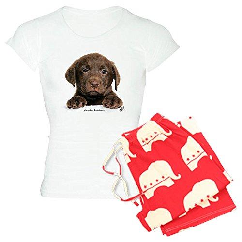 CafePress-Schokolade Labrador Retriever-Damen Neuheit Baumwolle Pyjama Set, bequemen PJ Nachtwäsche Gr. Small, With Republican Pant -