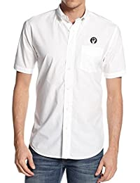 45REVS Northern Soul Fist Embroidered Button Down Collar Shirt by