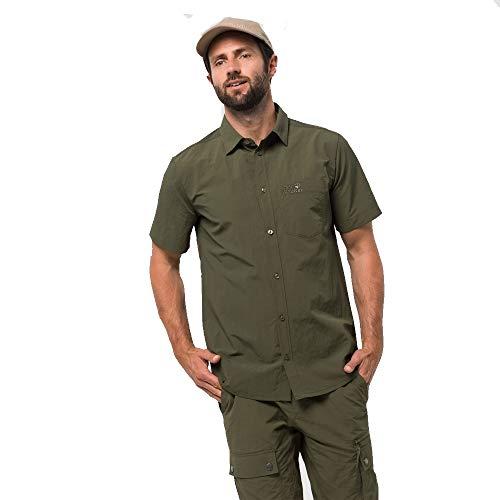 Jack Wolfskin Herren Lakeside Shirt Hemd, Woodland Green, XXL