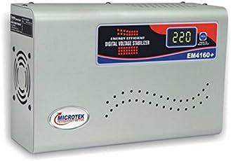 Microtek EM4160+ 160V-285V Digital Display Voltage Stabilizer (Grey)