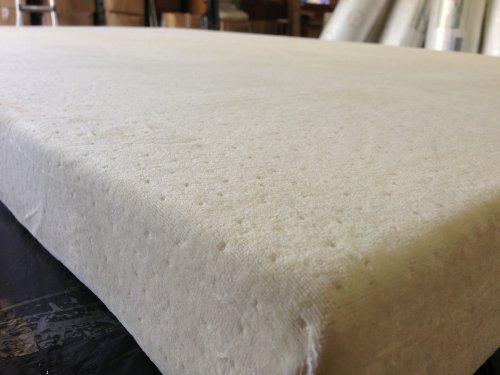Happy2ez Marke New Memory Foam Matratze Jacquard Velours Rundum Reißverschluss Cover für 7,6cm Memory Foam oder Latex Matratze Pad Topper alle Größen (Full (137,2x 188cm)) -