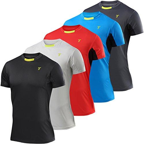 TCA Mens Short Sleeve Atomic QuickDry Gym Training Top