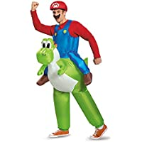 Mario Riding Yoshi Adult Fancy dress costume