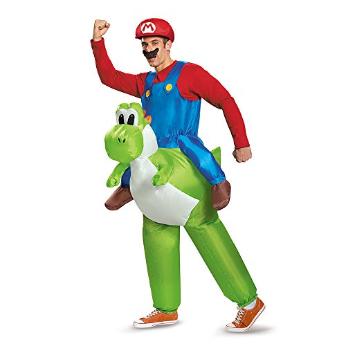 Super Mario Mario Riding Yoshi Inflatable Adult Costume
