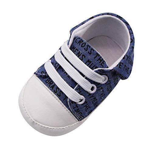 Beikoard Neugeborene Schuhe Segeltuch Sneakers Soft Schuhe Prewalker Soft Shoes für den Briefdruck Einzige einzelne Schuhe