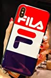 TN Cases Store Coque iPhone 7 et iPhone 8 FILA Bleu Blanc Rouge Sportswear Logo...