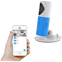 Plater Smart Baby Monitor Wi-Fi Video Home Security Camera with P2P Night Vision Record Video Two-Way Audio Motion Detected supporto TF card for iPhone iPad Android Smartphone–Blue