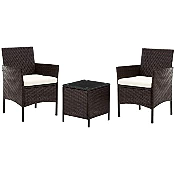 Garden furniture cover for 2 seat armchairs set with drinks table