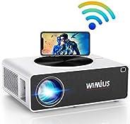 Proyector WiFi 1080P, WiMiUS 7200 Lúmenes Proyector WiFi Full HD 1920×1080P Soporta 4K Audio AC3 Proyector Cin