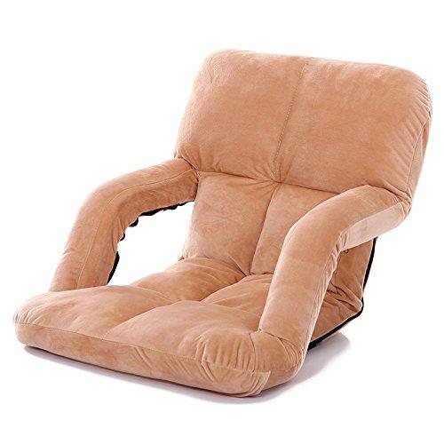 DEO Bureau d'ordinateur Chaise d'extérieur sans jambes avec dossier inclinable - Coussin confortable et léger - Accoudoirs - Idéal pour les bateaux, les yachts, les sièges de stade / gradins, le camping, les festivals, les pique-niques, et plus durable