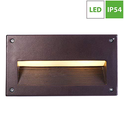 LED Aplique de Pared Exterior, IP 65 impermeable Foco de Pared, Aluminio...