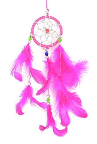 Piquaboo Mini-Traumfänger zum Aufhängen, 17,8 cm lang, Rose, 3x18 cm -