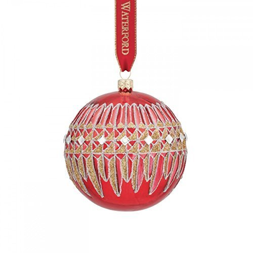 Waterford Crystal Ball (Waterford Lismore Diamond Red Ball Ornament by Waterford Crystal)