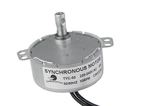 TYC-50 Motor sincrónico 220V AC 10-12RPM CW/CCW Esfuerzo de torsión 1.5Kg.cm 4W...