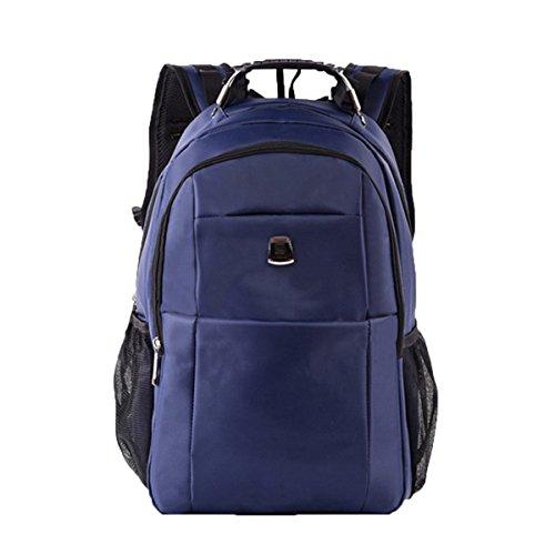 Outdoor-Reise-Schultertasche Herren Business-Casual-Tasche Sport-Rucksack Große Kapazität Studenten Wasserdichte Schultasche,Blue-M