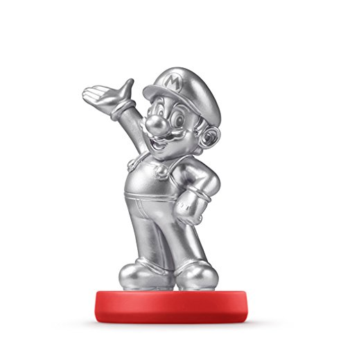 Amiibo - Super Mario Collection Figur: Silver Mario (Super Figuren Mario Amiibo)