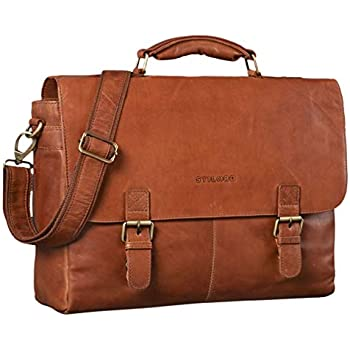 8212aba753 STILORD 'Dorian' Serviette Cuir Homme Vintage Grande Sac d'affaires Porte- Documents Cartable pour Trolley, Couleur:girona - Marron