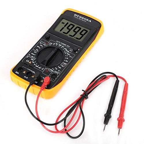 jfhrfged Digital DT-9205A Multimeter AC/DC Amperemeter Widerstands-Kapazitäts-Tester Hz hFE