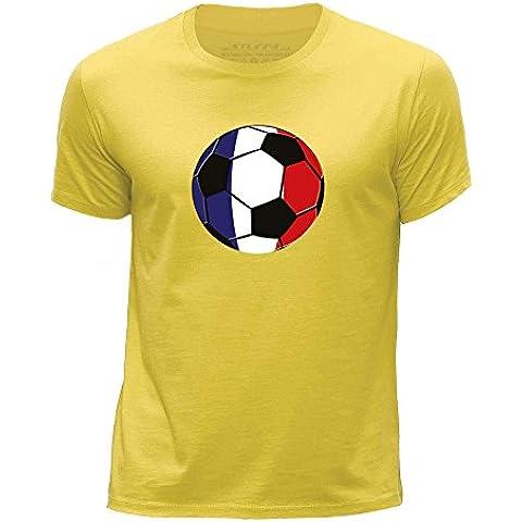 STUFF4 Chicos/Edad de 12-14 (152-164cm)/Amarillo/Cuello redondo de la camiseta/Bandera del