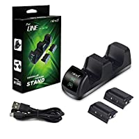 Xbox One Controller Charger with LED Indicator, Dual Docking/Charging Station with 2 x 1200mAh Rechargeable Battery Packs for Xbox One/XboxOne X/S