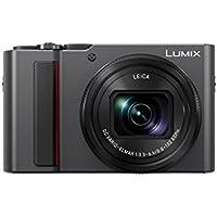Panasonic LUMIX DC-TZ202EG-S Premium Travelzoom Kamera (1-Zoll Sensor, 15x opt. Zoom, Leica Objektiv, Sucher, 4K), silber