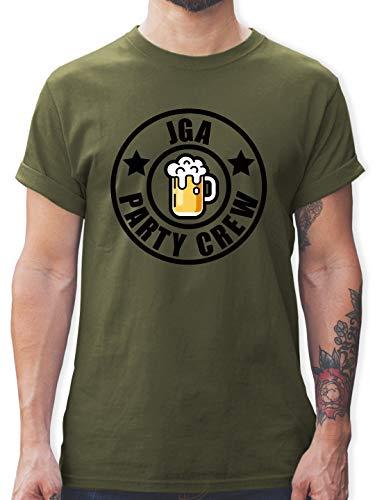 Army Boy Kostüm Grüne - JGA Junggesellenabschied - JGA - Party Crew Logo - S - Army Grün - L190 - Herren T-Shirt und Männer Tshirt