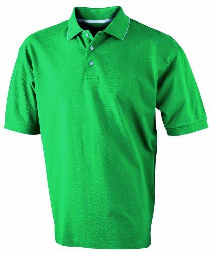 James & Nicholson Herren Poloshirt irishgreen/white