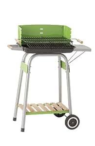 Landmann 31429 Barbecue à Charbon avec Système Inédit de Récupération des Graisses Émaillée Vert/Métallique 36 x 12 x 64 cm