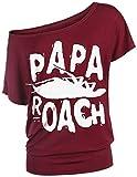 Papa Roach Logo T-Shirt Burgundy M