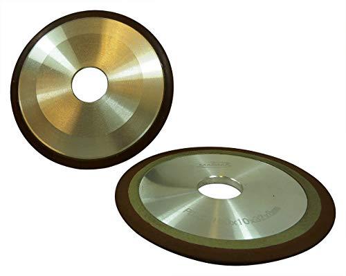 1x Profi Diamantschleifscheibe 125x10x32x8, Scheiben Durchmesser: Ø 125mm, Lochdurchmesser: 32mm Schleifmittelbreite: 8mm beidseitig, Alukern