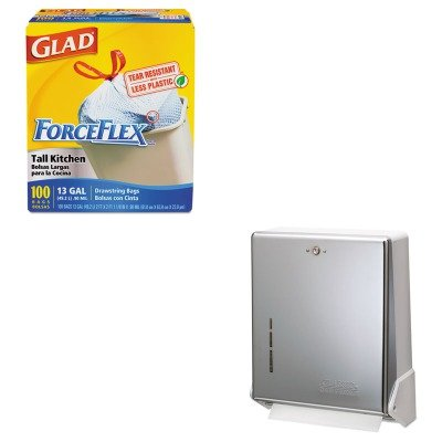kitcox70427sjmt1905xc-value-kit-san-jamar-true-fold-metal-front-cabinet-towel-dispenser-sjmt1905xc-a