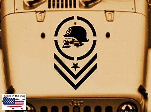 SUPERSTICKI Metal Mulisha Skull Military Star Hood Door Vinyl Decal Car Truck Van 21