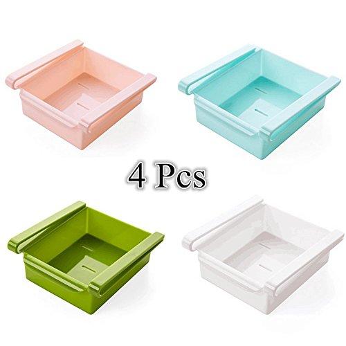 Multiusos plástico cocina cajón deslizante almacenamiento