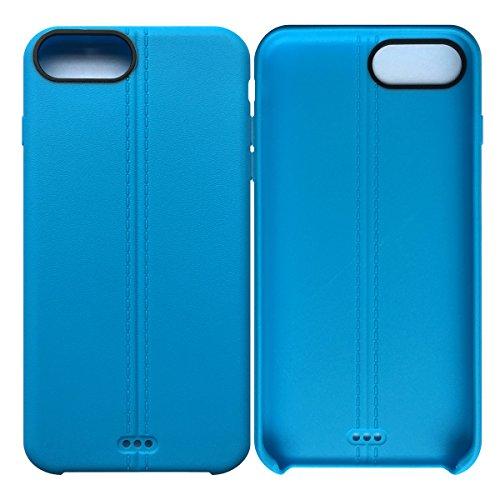 iPhone 7 Plus / iPhone 8 Plus Case Tasche HandyHülle Ultra-dünne Leder-Muster Slim Silikon Case Leicht TPU Ultra Thin Soft Stoßfest Shockproof Staubdicht Schutzhülle Covers Sleeve Leder für iPhone 7 P Blau