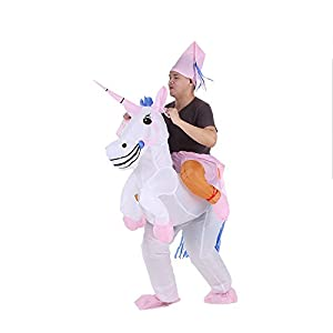 disfraces: Anself - Disfraces Inflable De Unicornio Traje De Cosplay Fiesta,Para Adulto 1.6...