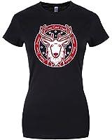 Santa's Reindeer Ladies T-shirt