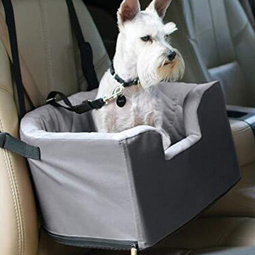 Hunde Autositz Kleine Weicher Waschbarer Rutschfester Hundesitz Für Auto Mit Abnehmbare HundeKissen Katze Reisen Front Booster Sitze,Grey