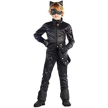 VESTITO COSTUME Maschera di CARNEVALE Gatto nero Ragazzo CAT NOIR