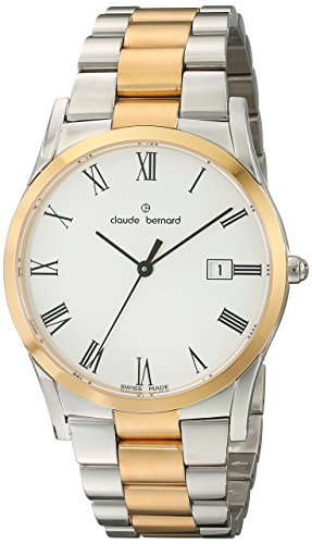 Claude Bernard Men's 70163 357J BR Classic Gents Analog Display Swiss Quartz Two Tone Watch