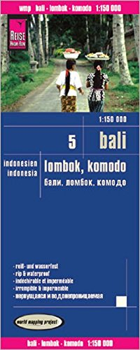Bali, Lombok y Komodo, mapa de carreteras impermeable. Escala 1:150.000. Reise Know-How.