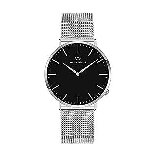 Welly Merck Damen Analog Uhren Schweizer Quarzwerk Mit Silber Edelstahl Armbänder W-C3MI