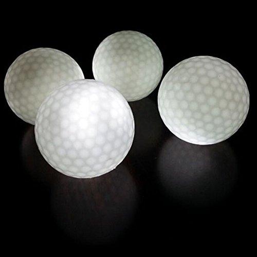 crestgolf LED Elektronische Blinklicht Glowing Ball, Night Glow Flash-Light LED Golf Ball, 4Stück Pcs (Light Bälle Night Golf)